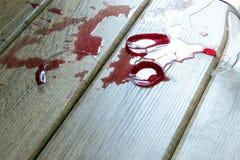 σπασμένο κρασί γυαλιού Στοκ Φωτογραφίες