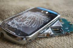 Σπασμένο κυψελοειδές τηλέφωνο Στοκ Εικόνες