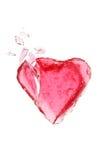 σπασμένο κόκκινο καρδιών Στοκ εικόνες με δικαίωμα ελεύθερης χρήσης