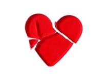 σπασμένο κόκκινο καρδιών &gamma Στοκ Φωτογραφία