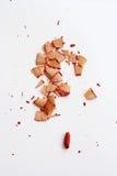 σπασμένο κόκκινο μολύβδο στοκ εικόνες
