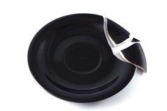 Σπασμένο μαύρο πιάτο Στοκ εικόνα με δικαίωμα ελεύθερης χρήσης
