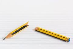 Σπασμένο μολύβι Στοκ Φωτογραφία