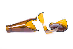 σπασμένο μπουκάλι γυαλί Στοκ φωτογραφία με δικαίωμα ελεύθερης χρήσης