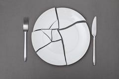 Σπασμένο να κάνει δίαιτα πιάτων Στοκ εικόνες με δικαίωμα ελεύθερης χρήσης