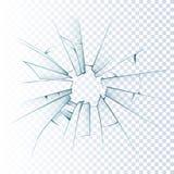 Σπασμένο παγωμένο ρεαλιστικό εικονίδιο γυαλιού διανυσματική απεικόνιση