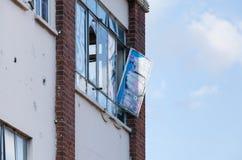 σπασμένο παράθυρο Στοκ εικόνες με δικαίωμα ελεύθερης χρήσης