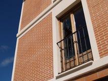 σπασμένο παράθυρο Στοκ Φωτογραφία