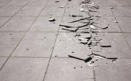 σπασμένο πεζοδρόμιο Στοκ Εικόνες