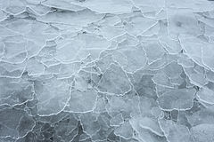Σπασμένο πιάτο πάγου στοκ φωτογραφία με δικαίωμα ελεύθερης χρήσης
