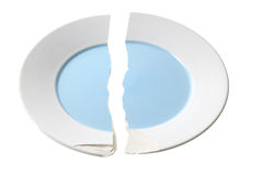 σπασμένο πιάτο Στοκ εικόνες με δικαίωμα ελεύθερης χρήσης