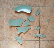 Σπασμένο πιάτο Στοκ Εικόνες