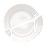 Σπασμένο πιάτο Στοκ Εικόνα