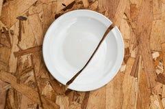 σπασμένο πιάτο Στοκ Φωτογραφία