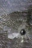 σπασμένο πλάνο γυαλιού σ&phi Στοκ Εικόνες