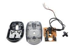 σπασμένο ποντίκι υπολογιστών στοκ φωτογραφίες