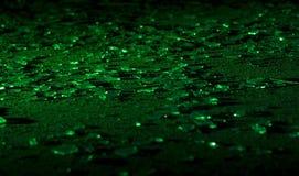 Σπασμένο πράσινο γυαλί Στοκ εικόνα με δικαίωμα ελεύθερης χρήσης