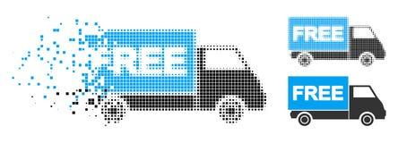 Σπασμένο σημείο ημίτονο Free Shipment Van Icon ελεύθερη απεικόνιση δικαιώματος