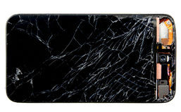 Σπασμένο τηλέφωνο κυττάρων Στοκ φωτογραφία με δικαίωμα ελεύθερης χρήσης