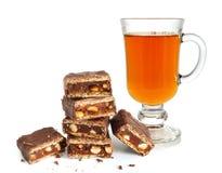 σπασμένο τσάι σωρών σοκολάτας Στοκ Εικόνες