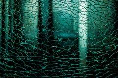 Σπασμένο χαλασμένο γυαλί Στοκ φωτογραφία με δικαίωμα ελεύθερης χρήσης