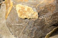 Σπασμένο χοντρό κομμάτι ενός λίθου Moeraki, Νέα Ζηλανδία Στοκ Εικόνες