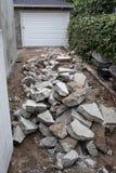 Σπασμένο driveway Στοκ φωτογραφίες με δικαίωμα ελεύθερης χρήσης