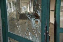 Σπασμένο Glassdoor Στοκ Φωτογραφίες