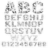 Σπασμένο Grunge αλφάβητο ελεύθερη απεικόνιση δικαιώματος