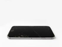 Σπασμένο iPhone 6 της Apple με τη ραγισμένη οθόνη στοκ φωτογραφίες
