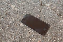 σπασμένο smartphone Στοκ Εικόνες