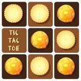 Σπασμός-TAC-toe της κροτίδας και της τηγανίτας Στοκ Φωτογραφίες