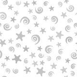 Σπείρα και σχέδιο αστεριών άνευ ραφής διάνυσμα ανασκό Στοκ Εικόνες