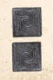Σπείρα μετάλλων motivs ανακυκλωμένος Στοκ εικόνες με δικαίωμα ελεύθερης χρήσης