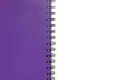 Σπείρα σημειωματάριων - συνδεδεμένη απομονωμένος στο άσπρο υπόβαθρο Στοκ φωτογραφία με δικαίωμα ελεύθερης χρήσης