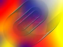 σπείρα χρωματισμένων γραμμώ& Στοκ εικόνες με δικαίωμα ελεύθερης χρήσης