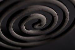 Σπείρες κουνουπιών σε ένα μαύρο υπόβαθρο Στοκ Φωτογραφίες