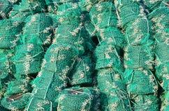 Σπείρες των διχτυών του ψαρέματος, υπόβαθρο στοκ εικόνες