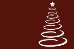 σπειροειδές δέντρο Χρισ&ta Στοκ Φωτογραφίες