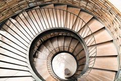 Σπειροειδές εσωτερικό διακοσμήσεων σκαλών κύκλων Στοκ εικόνα με δικαίωμα ελεύθερης χρήσης