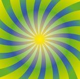 σπειροειδής ήλιος διανυσματική απεικόνιση