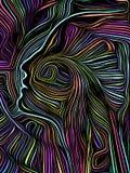 Σπειροειδής ξυλογραφία μυαλού απεικόνιση αποθεμάτων