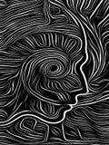Σπειροειδής ξυλογραφία μυαλού ελεύθερη απεικόνιση δικαιώματος