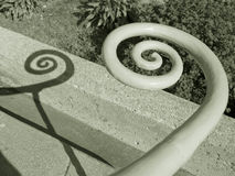 σπειροειδής σκάλα ραγών Στοκ Εικόνα