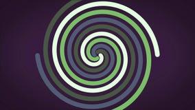 Σπειροειδή καμμένος ίχνη χρώματος επίδρασης αφηρημένα κυκλικά, περίληψη Ιώδης ανασκόπηση Χρωματισμένη σπείρα με τις υφαμένες γραμ διανυσματική απεικόνιση
