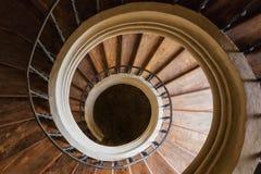 Σπειροειδή σκαλοπάτια του καθεδρικού ναού της υπόθεσης της κυρίας μας σε Sedlec, Santiny Στοκ εικόνα με δικαίωμα ελεύθερης χρήσης