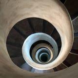 σπειροειδή σκαλοπάτια Στοκ Φωτογραφία