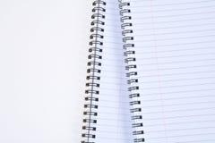 Σπειροειδές σημειωματάριο Στοκ Εικόνα