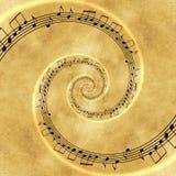 Σπειροειδές σκηνικό έννοιας μουσικής Στοκ Εικόνες