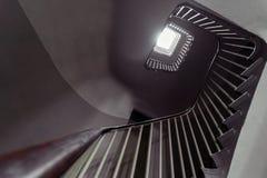 Σπειροειδές fibonacci σκαλών, παλαιό σπίτι, φωτογραφία σιταριού στοκ φωτογραφίες με δικαίωμα ελεύθερης χρήσης
